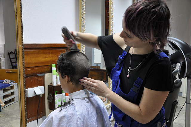 Women Barber Shop Shave and Haircut