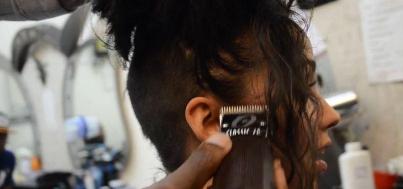 Female Hair Tattoo by Barber 2